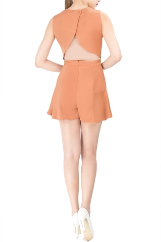 Show details for Decalen Romper (Beige)