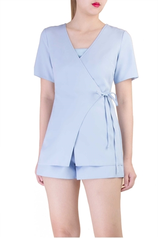 Show details for Denisist Romper (Powder Blue)