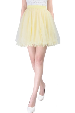 Picture of Diverxia Skirt (Powder Yellow)