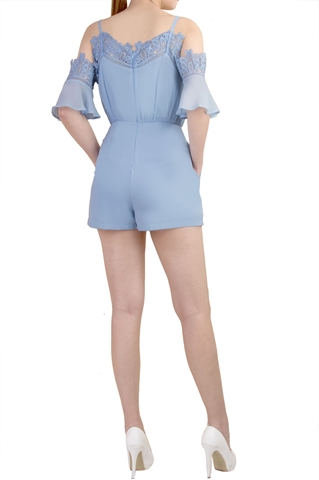 Show details for Dameliaz Romper (Powder Blue)