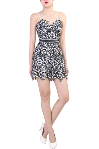 Picture of Daubrest Romper (Black+White)
