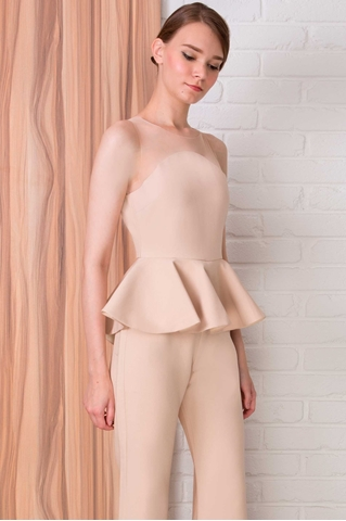 Show details for Dacharis Jumpsuit (Beige)