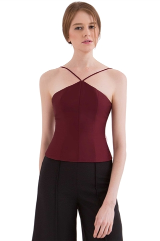 Show details for Domed Top (Maroon)