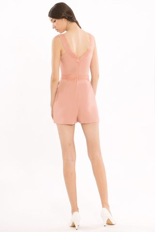 Show details for Dinerlic Romper (Blush)