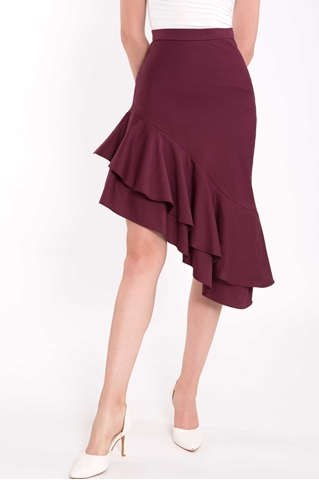 Show details for Dedior Skirt (Maroon)