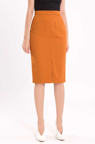 Show details for Diferyiz Skirt (Rust Orange)