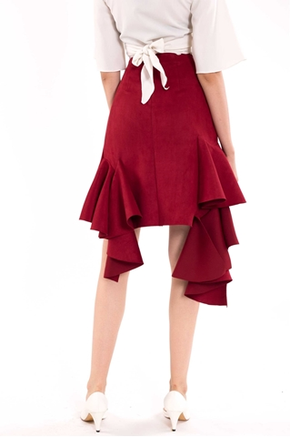 Show details for Liase Skirt (Red)