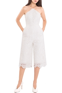 Picture of Dojustia Jumpsuit Cullotes (White)