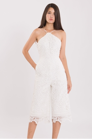 Show details for Dojustia Jumpsuit Cullotes (White)