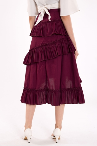 Show details for Datariver Skirt (Burgundy)