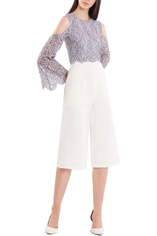 Picture of Derniza Jumpsuit Cullotes (White)