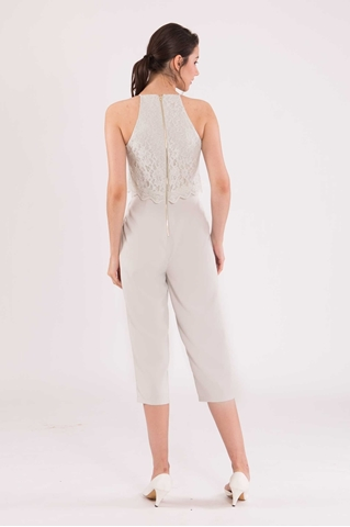 Show details for Daferuq Jumpsuit (Light Grey)