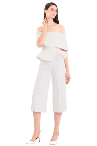 Picture of Doxkerfy Jumpsuit Cullotes (White)