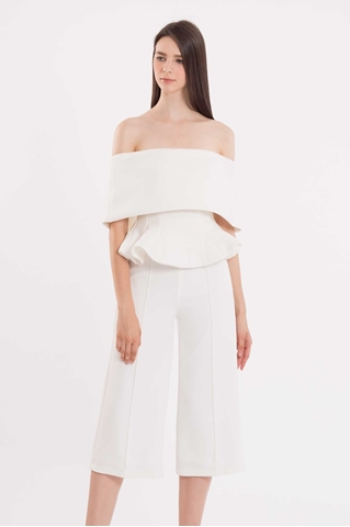 Show details for Doxkerfy Jumpsuit Cullotes (White)