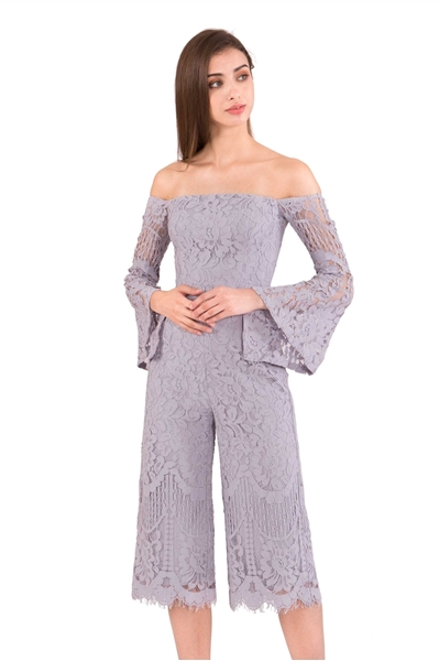 Picture of Dagusto Jumpsuit Cullotes (Grey)