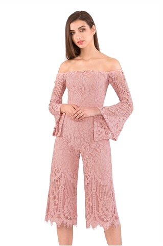 Picture of Dagusto Jumpsuit Cullotes (Pale Pink)