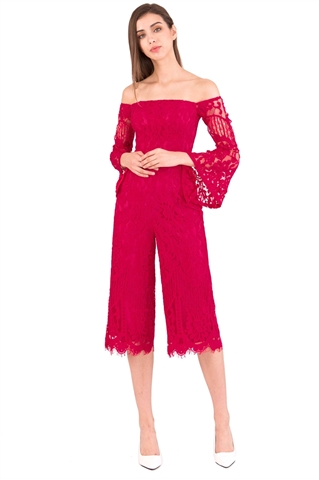Picture of Dagusto Jumpsuit Cullotes (Pink)