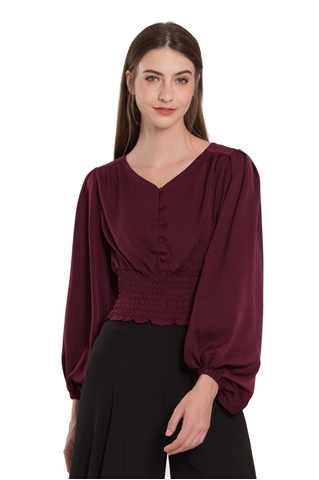 Picture of Detasia Top (Burgundy)
