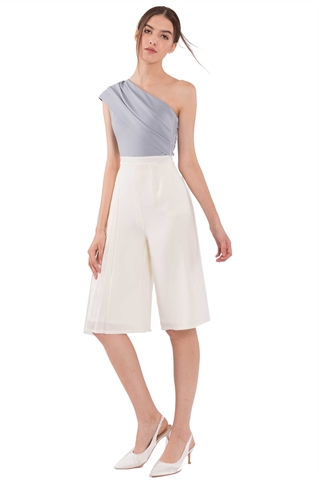 Picture of Datiarur Jumpsuit Cullotes (Ash Blue+Cream)