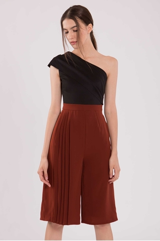 Show details for Datiarur Jumpsuit Cullotes (Black+Brown)