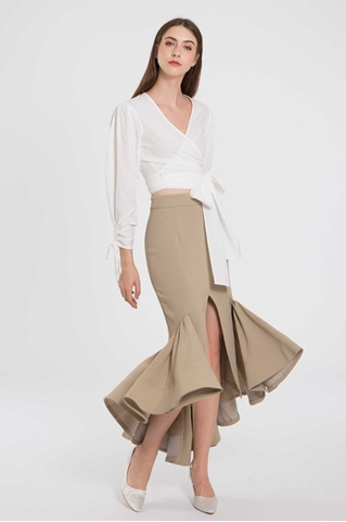 Show details for Daguaxu Skirt (Olive)