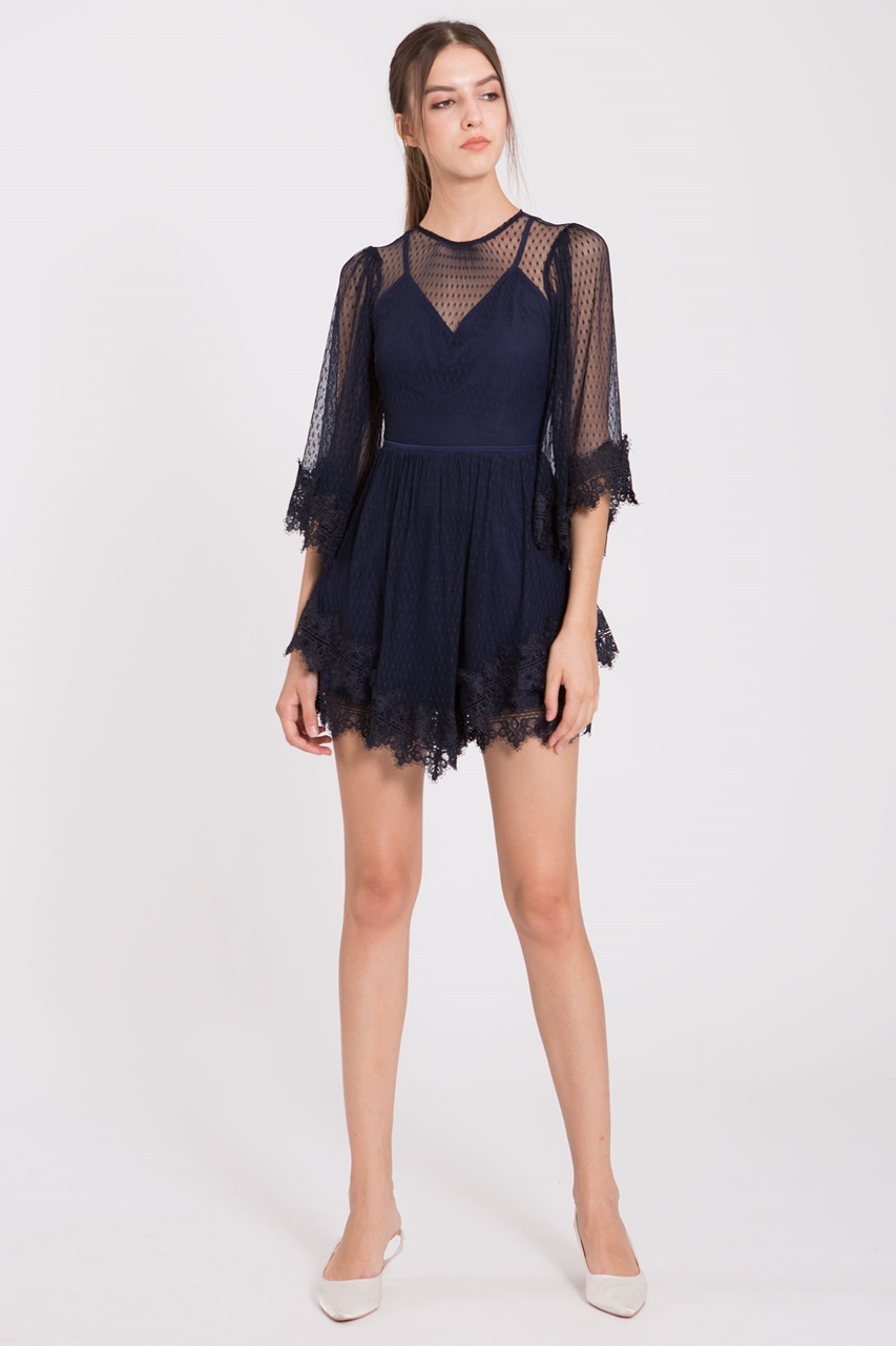 how to orders offer hot-selling clearance Dohanih Romper (Navy)