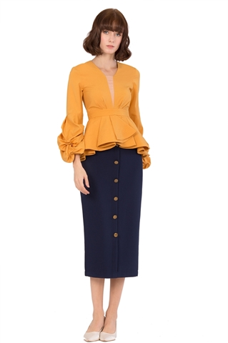 Picture of Dovalia Top (Mustard)