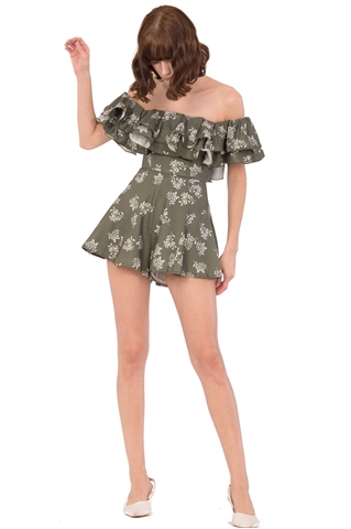 Picture of Diferliatiq Romper (Army Green)