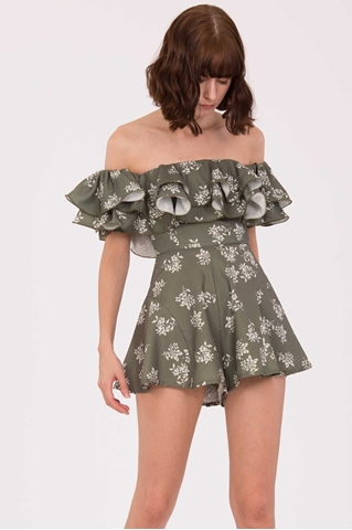 Show details for Diferliatiq Romper (Army Green)