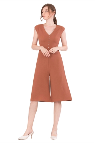 Picture of Doferfiy Jumpsuit Cullotes (Brown)