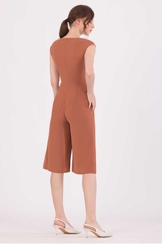 Show details for Doferfiy Jumpsuit Cullotes (Brown)