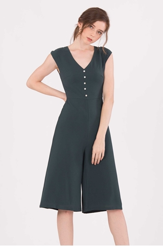 Show details for Doferfiy Jumpsuit Cullotes (Dark Green)