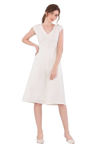 Picture of Doferfiy Jumpsuit Cullotes (White)