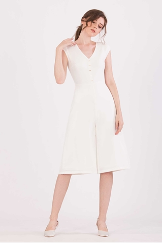 Show details for Doferfiy Jumpsuit Cullotes (White)