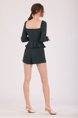 Show details for Denituriol Romper (Dark Green)