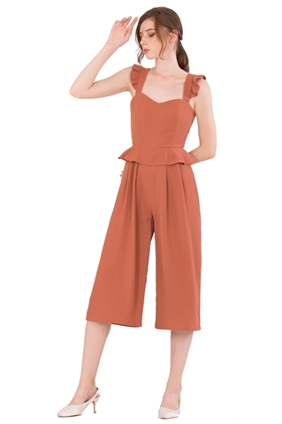 Picture of Diutol Jumpsuit Cullotes (Light Brown)