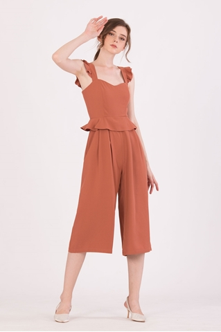 Show details for Diutol Jumpsuit Cullotes (Light Brown)