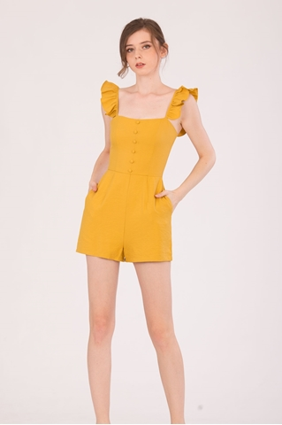 Show details for Dohanic Romper (Mustard)