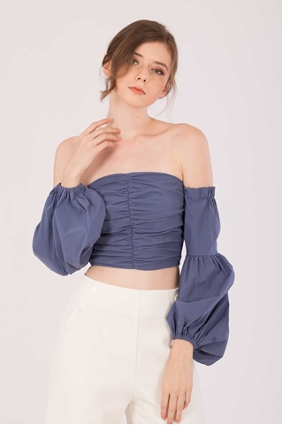 Show details for Dicheny Top (Denim Blue)