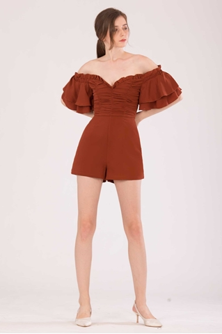 Show details for Dofoterla Romper (Brown)