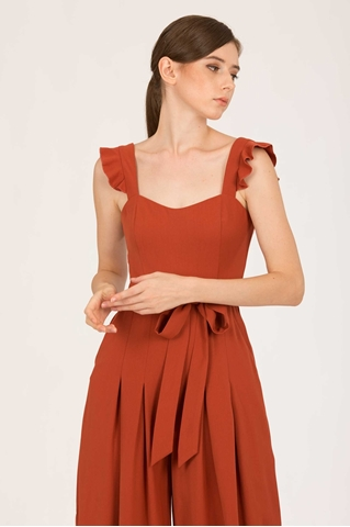 Show details for Dotiakira Jumpsuit (Rust Orange)