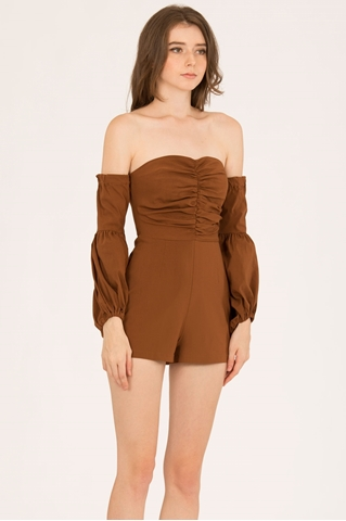 Show details for Dolifit Romper (Dark Brown)