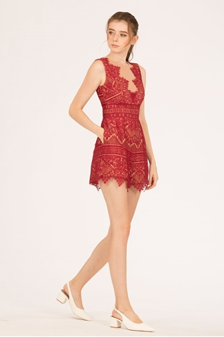 Show details for Dariehong Romper (Red)