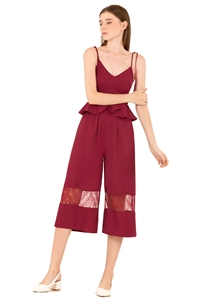 Picture of Daritahern Jumpsuit Cullotes (Maroon)