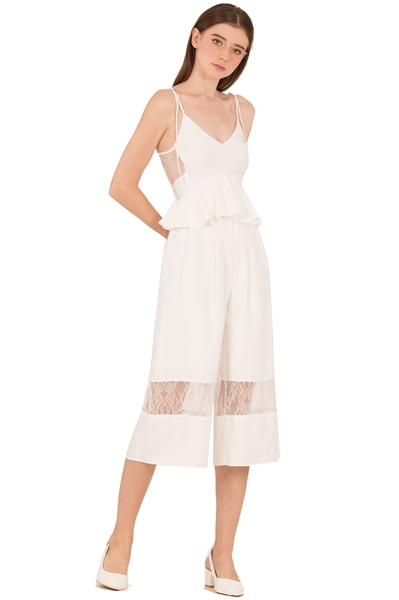 Picture of Daritahern Jumpsuit Cullotes (White)