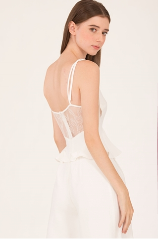 Show details for Daritahern Jumpsuit Cullotes (White)