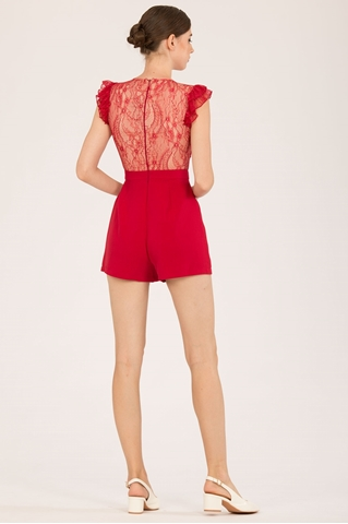 Show details for Damingjita Romper (Red)