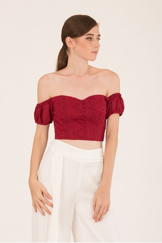 Show details for Dameirong Top (Maroon)