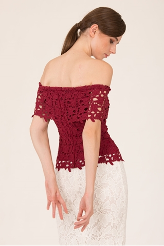 Show details for Duxca Top (Maroon)