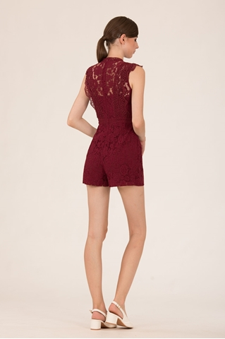 Show details for Dibolia Romper (Maroon)